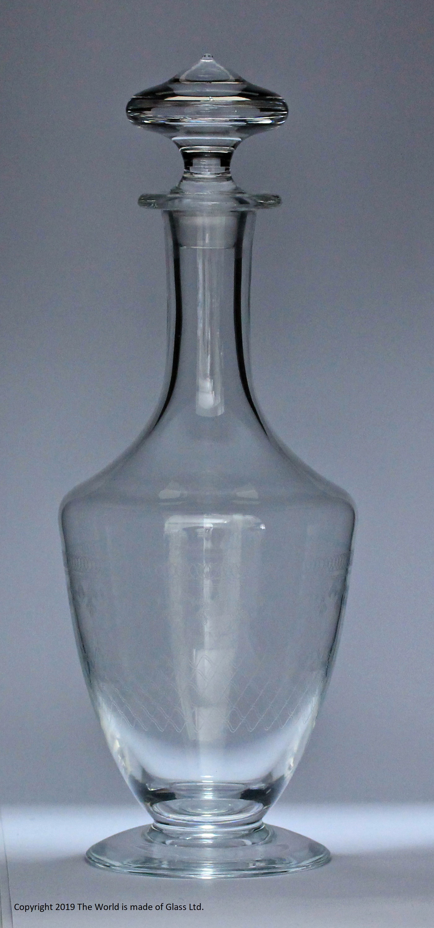 """Pall Mall""/Lady Hamilton pattern lead glass shoulder decanter"