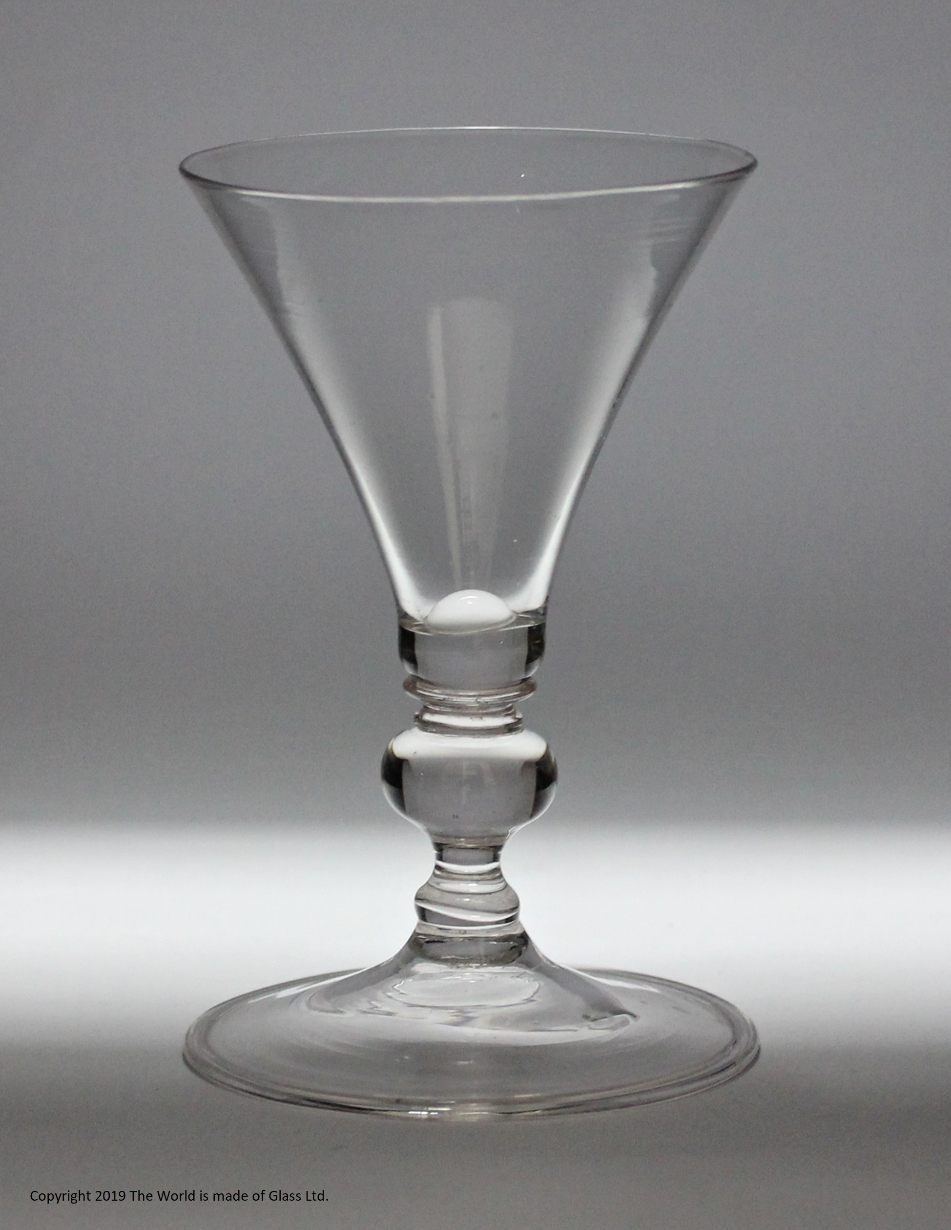17th century facon de Venise wine glass